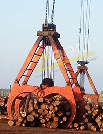 机械木材抓斗